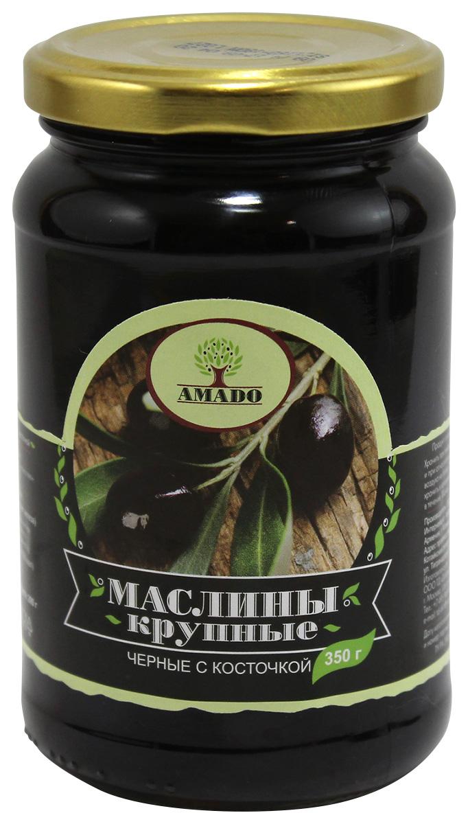 Amado черные маслины с косточкой, крупные, 350 г9Экологически чистый продукт. Чистейшая горная вода позволяет почувствовать истинный вкус маслин. Отсутствуют усилители вкуса и консерванты.