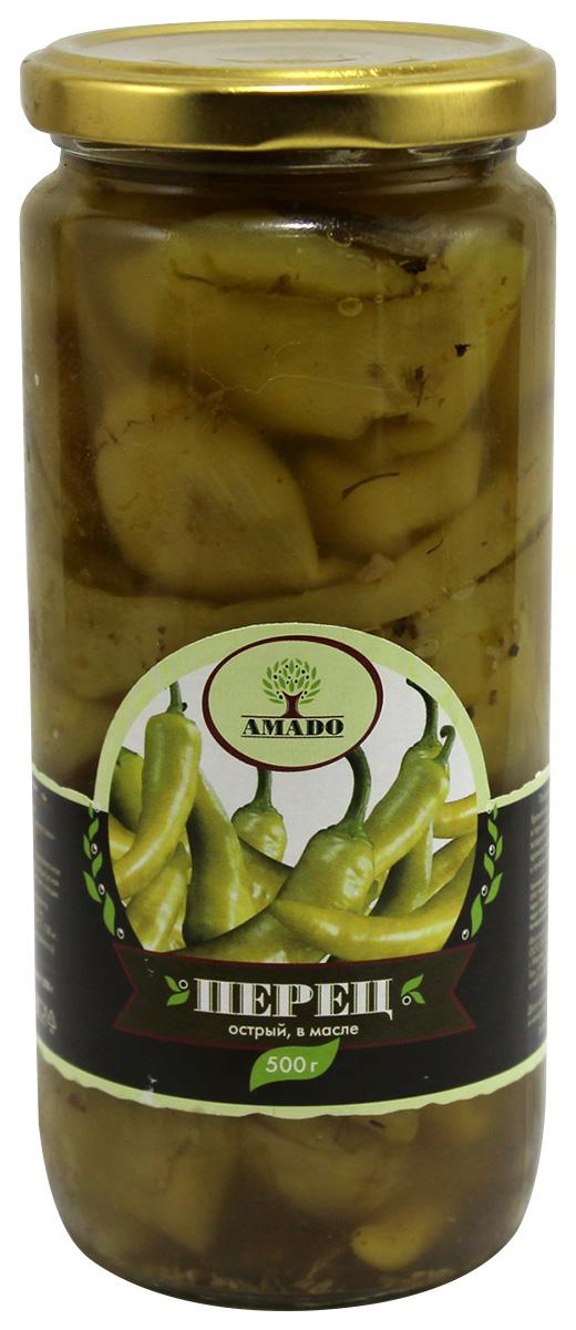 Amado перец острый в масле, 500 г hame пюре слива фруктовое 10 шт по 190 г