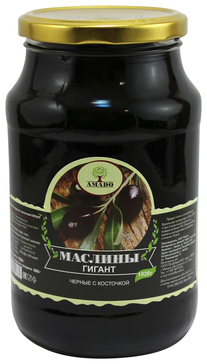 Amado черные маслины с косточкой, крупные, 1,02 кг28Экологически чистый продукт. Чистейшая горная вода позволяет почувствовать истинный вкус маслин. Отсутствуют усилители вкуса и консерванты.