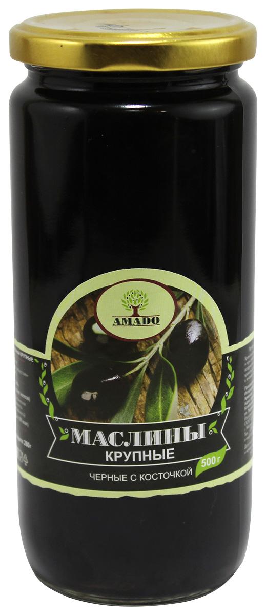 Amado черные маслины с косточкой, крупные, 500 г21Экологически чистый продукт. Чистейшая горная вода позволяет почувствовать истинный вкус оливок. Отсутствуют усилители вкуса и консерванты. Плоды крупного размера, с маленькой косточкой