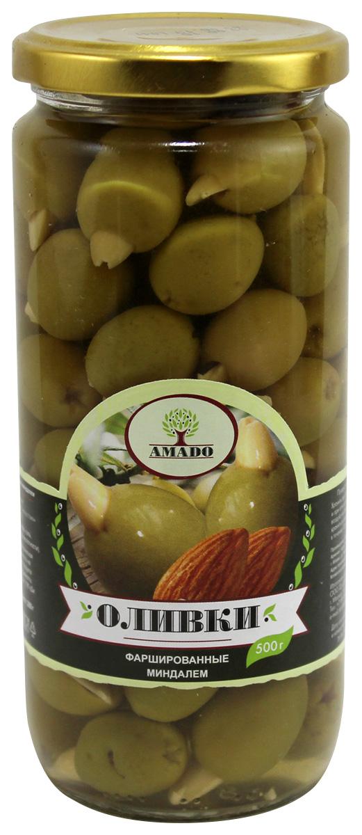Amado зеленые оливки с миндалем, 500 г макароны каннеллони barilla 250г