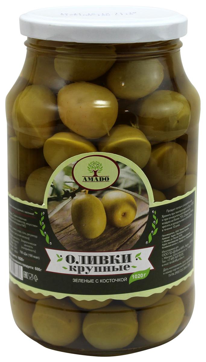 Amado зеленые оливки с косточкой, крупные, 1,02 кг29Экологически чистый продукт. Чистейшая горная вода позволяет почувствовать истинный вкус оливок. Отсутствуют усилители вкуса и консерванты.