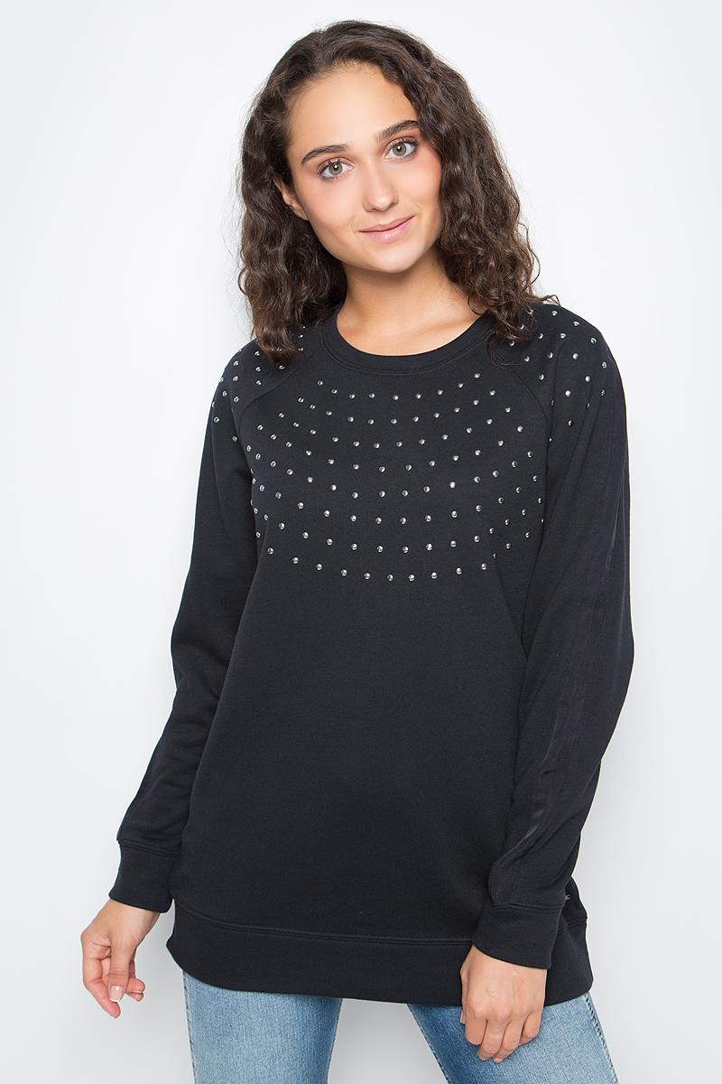 Джемпер женский Calvin Klein Jeans, цвет: черный. J20J205395_0990. Размер M (44/46) платье calvin klein jeans цвет черный j20j201326 0990 размер m 44 46