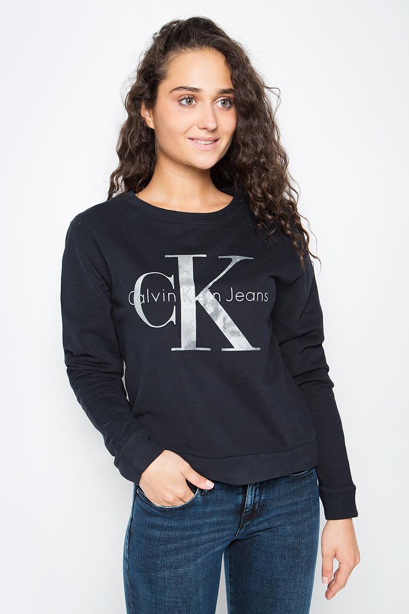 Джемпер женский Calvin Klein Jeans, цвет: черный. J20J205390_0990. Размер L (46/48)