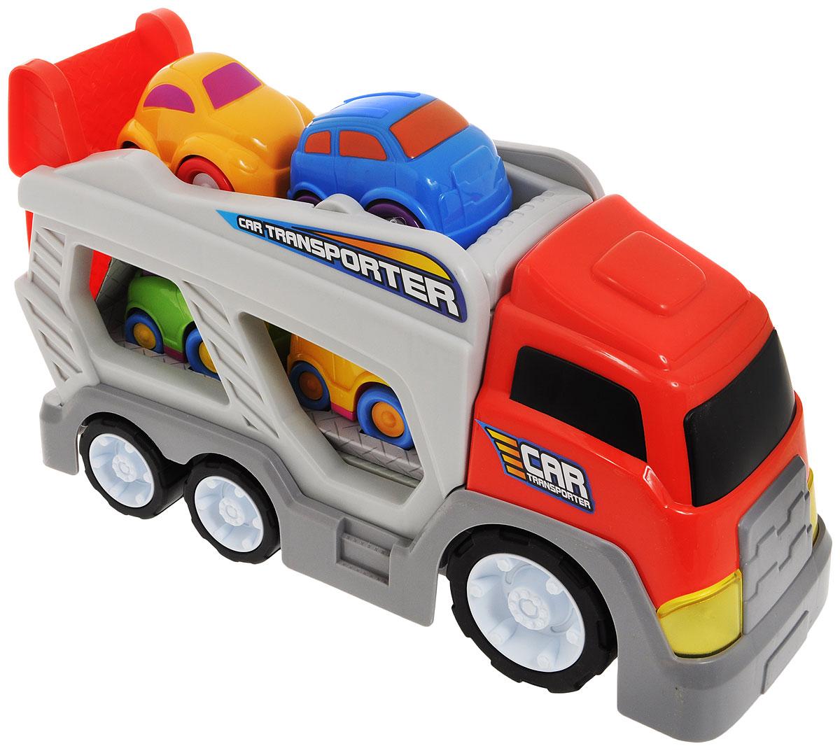 Keenway Набор машинок Автовоз 5 шт прицепы для легковых автомобилей б у купить в рязани