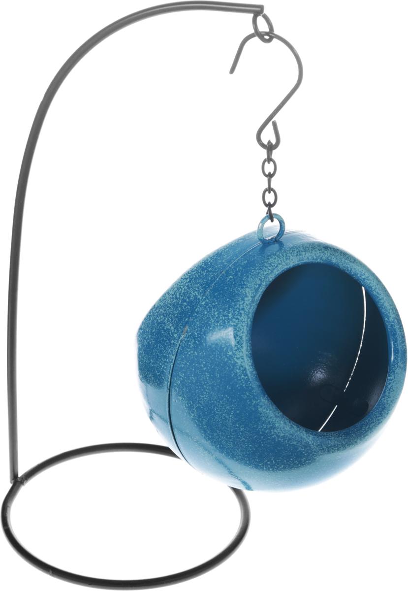 Кормушка для птиц Феникс-Презент, цвет: синий, диаметр 9,5 см43892Кормушка для птиц Феникс-Презент выполнена из черного окрашенного металла. Отлично подойдет для декоративного оформления вашего сада и огорода. Изделие оснащено цепочкой, за которую его можно повесить в любое место.