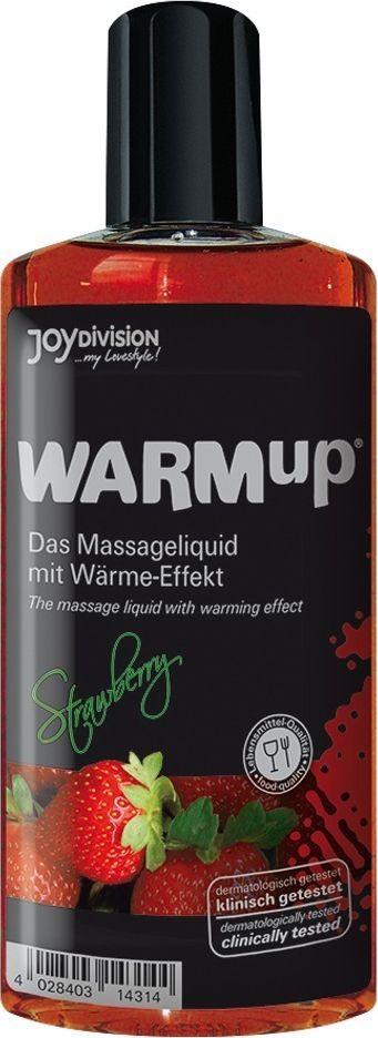 JoyDivision Разогревающий массажный гель, съедобный Warm Up, клубника, 150 мл shiatsu массажный гель лубрикант 2 в 1 на водной основе 200 мл