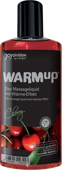 JoyDivision Разогревающий массажный гель, съедобный Warm Up, вишня, 150 мл shiatsu массажный гель лубрикант 2 в 1 на водной основе 200 мл