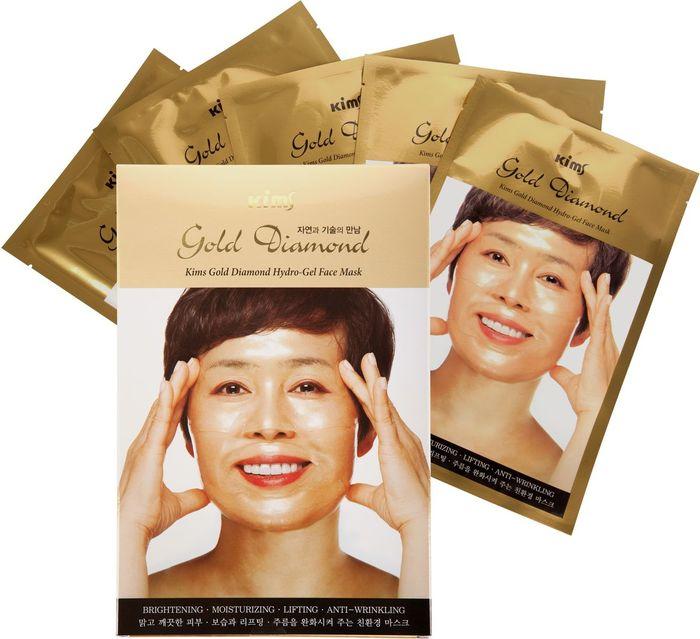 Kims Гидрогелевая алмазная маска для лица, 5 шт fifty shades darker no bounds ankle cuffs фиксаторы для лодыжек из натуральной кожи