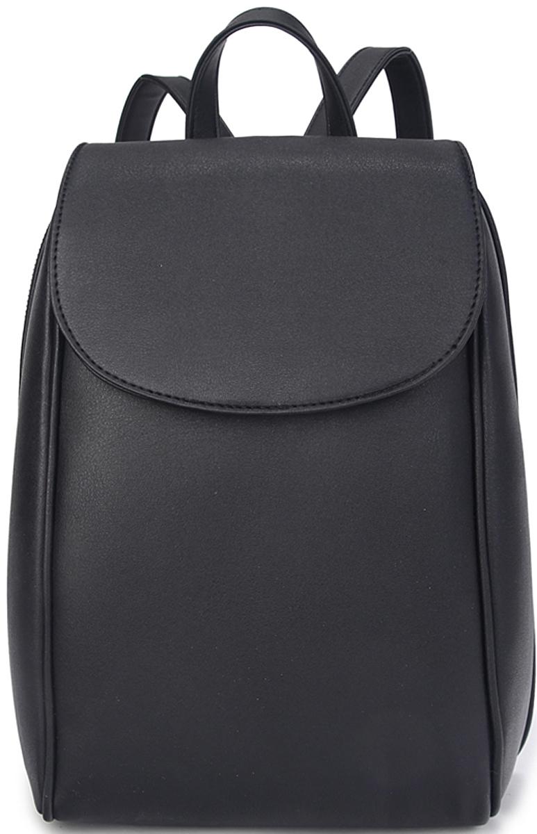 Рюкзак женский OrsOro, цвет: черный. D-451/1D-451/1Женский рюкзак OrsOro с клапаном выполнен из искусственной кожи высокого качества.Рюкзак имеет одно отделение, закрывается на молнию. Внутри располагаются карман на молнии, карман для телефона и накладной карман намолнии. Снаружи имеется внешний карман на задний стенке на молнии и передний карман. Рюкзак обладает удобной ручкой и двумя регулируемыми плечевыми лямками.