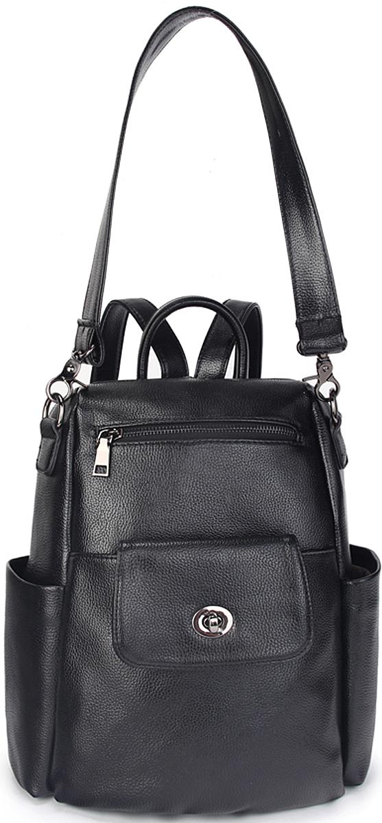 Сумка-рюкзак женская OrsOro, цвет: черный. D-454/3