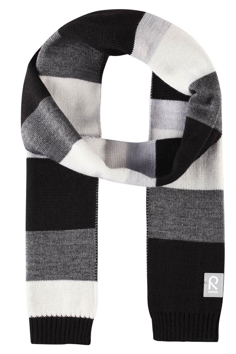 Шарф детский Reima Nyland, цвет: серый. 5285449400. Размер универсальный5285449400Детский зимний шарф изготовлен из мягкого и теплого шерстяного трикотажа. Эластичный и дышащий материал обеспечивает хорошую терморегуляцию. Снабжен светоотражающей эмблемой Reima.