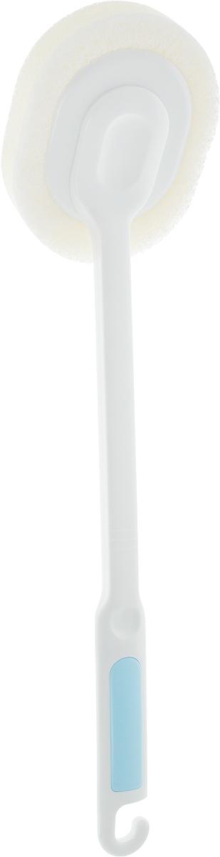 Губка для ванной Ohe Bath Sponge, c ручкой, длина 44 см671036Губка Ohe Bath Sponge применяется для очистки полимерных, эмалированных и стальных ванн. Особенности изделия:- создает обильную пену, позволяет очистить ванну, прилагая минимум усилий,- губка и ее пластиковые части обладают водоотталкивающими свойствами, поэтому они постоянно остаются чистыми, к ним не пристают жир и грязь.Состав: корпус - полипропилен, полистирол, щетка - нетканый нейлон, полиуретановый пенопласт. Выдерживает температуру до 70°С.Общая длина изделия: 44 см.Размер рабочей части: 13,5 х 11 х 3 см.