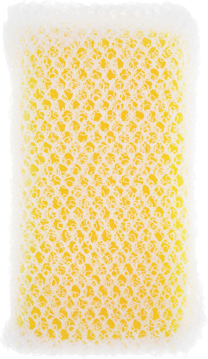 Губка для посуды Ohe Awa Qutto Net Sponge, с сеточкой, 13,5 х 7 х 3 см507021Губка Ohe Awa Qutto Net Sponge используется для мытья изделий из пластика, стекла, эмалированной посуды, керамики, посуды, покрытой пластиком, кухонных приборов из нержавеющей стали. Особенности изделия:- продукт представляет собой волнистую сетчатую губку,- в губке проделаны 3 отверстия, за счет этого легко образуется пена и вода быстро выводится,- внешняя губка-фильтр хорошо удаляет загрязнения и быстро избавляется от пены.Состав: полиуретан, сетчатый нейлон. Выдерживает температуру до 90°С.