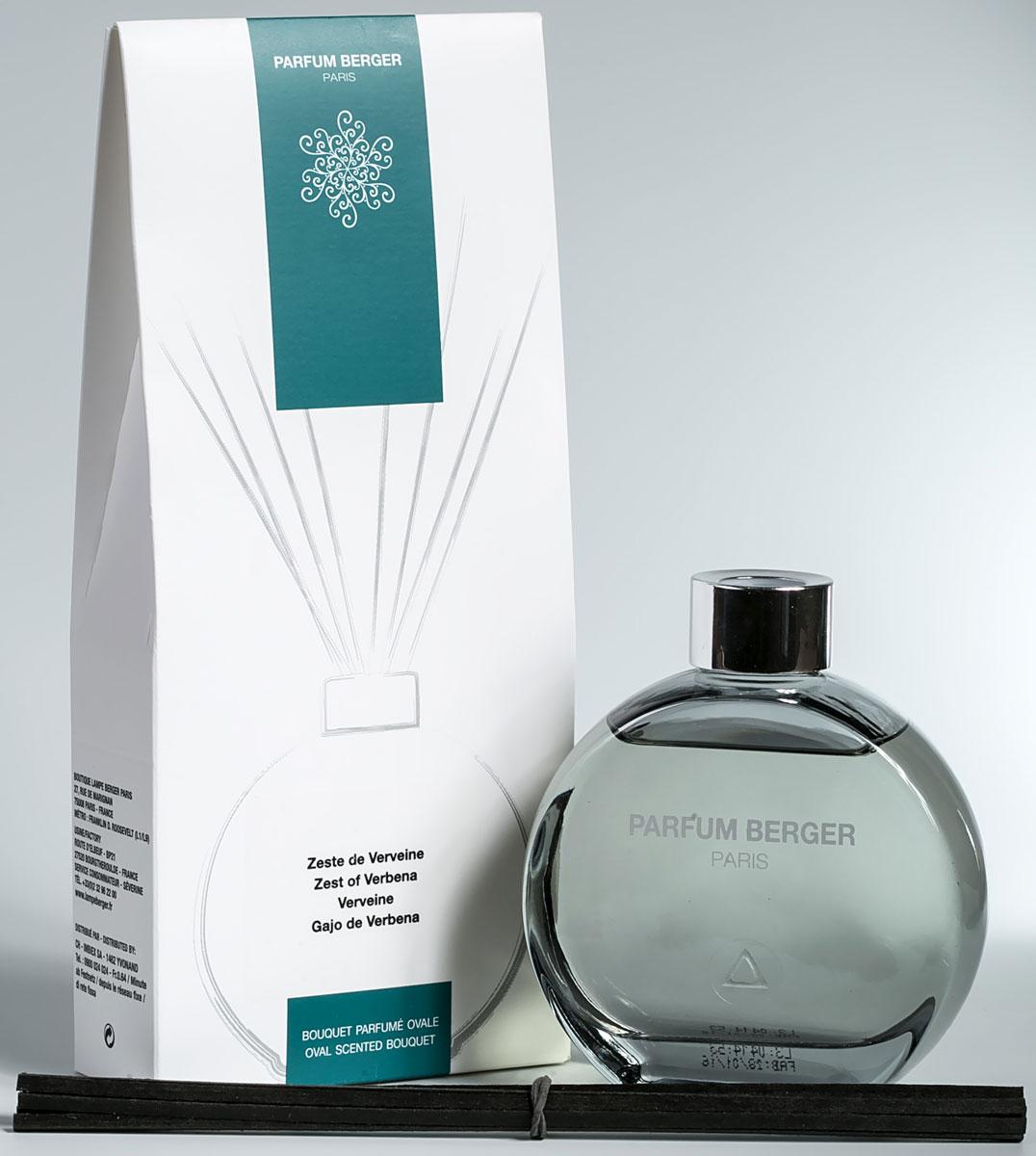 Диффузор ароматический Parfum Berger Цедра вербены, 180 мл2000000047447Комплект состоит из подарочной коробочки, стеклянного флакона, которыйнапоминает по своей форме известные духи от дома ароматов Шанель(Chanel), изысканной аромажидкости и комплекта полимерных палочек.Особенность данных диффузоров в применении инновационных полимерныхпалочек, что эффективнее любых тростниковых в 5 раз, что доказаноисследованиями и тестированием эффективности ароматизации. Остаточныхэффект от аромажидкости остается в полимерных палочках еще напротяжении более 2-х недель и продолжает вас радовать, пока вы не дольетево флакон свой любимый аромат.