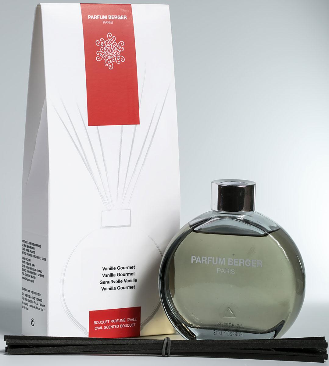 Диффузор ароматический Parfum Berger Истинная ваниль, 180 мл2000000047461Истинная ваниль. Верхние: ром, анис; средние: ванильный ликер и стебель; нижние: мускус, какао, бобы тонка. Комплект состоит из подарочной коробочки, стеклянного, слегка тонированного в нежный графитовый цвет флакона объемом 180 мл, что напоминает по своей форме известные духи от дома ароматов Шанель (Chanel), изысканной аромажидкости и комплекта полимерных палочек. Особенность данных диффузоров в применении инновационных полимерных палочек, что эффективнее любых тростниковых в 5 раз, что доказано исследованиями и тестированием эффективности ароматизации. Остаточных эффект от аромажидкости остается в полимерных палочках еще на протяжении более 2-х недель и продолжает вас радовать, пока вы не дольете во флакон свой любимый аромат.