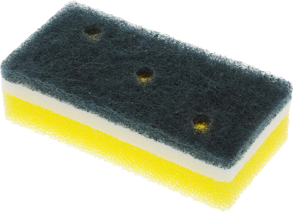 Губка для посуды Ohe Awa Qutto Nylon Sponge, трехслойная, жесткий верхний слой, 12 х 6 х 3,5 см507007Трехслойная губка Ohe Awa Qutto Nylon Sponge предназначена для чистки и мытья посуды. Поверхность нетканого материала используется для удаления загрязнений с металлических сковородок и кастрюль, а поверхность с губкой - для мытья изделий из пластика, стекла, эмалированной посуды, керамики, посуды, покрытой пластиком. Особенности изделия:- в состав нетканого слоя входит абразивный материал, который легко очищает даже застаревшую грязь,- мягкая губка посередине создает обильную пену,- внешняя губка-фильтр хорошо очищает загрязнения и быстро избавляется от пены,- в губке проделаны 3 отверстия, за счет этого легко образуется пена и вода быстро выводится.Состав: нетканая поверхность - нейлон (с абразивными материалами), губка - полиуретан. Выдерживает температуру до 90°С.