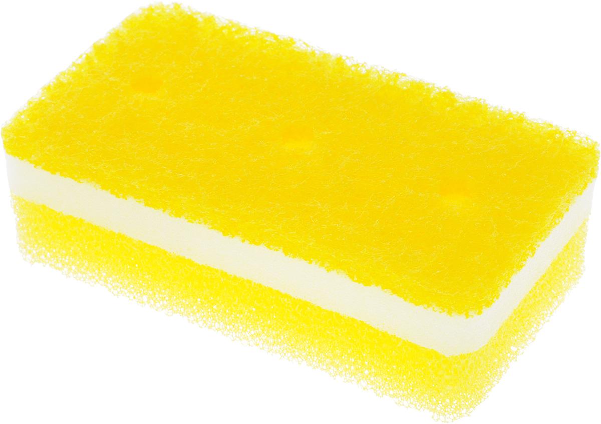 Губка для ванной Ohe Awa Qutto Bath Sponge, трехслойная, верхний слой средней жесткости, 14 х 7,5 х 4,5 см679506Трехслойная губка Ohe Awa Qutto Bath Sponge предназначена для очистки полиуретановых, эмалированных, железных ванн. Особенности изделия:- в губке проделаны 3 отверстия, за счет этого легко образуется пена и вода быстро выводится,- нетканый материал на внешней стороне губки прекрасно удаляет загрязнения и не царапает поверхность, - мягкая губка в середине создает большое количество пены,- губка-фильтр на внешней стороне полностью очищает поверхность ванны от грязи и быстро убирает пену,- является безопасным продуктом, поскольку для склеивания не используются растворители и другие опасные вещества.Состав: нетканая поверхность - нейлон (включены акриловые шарики), губка - полиуретан. Выдерживает температуру до 90°С.