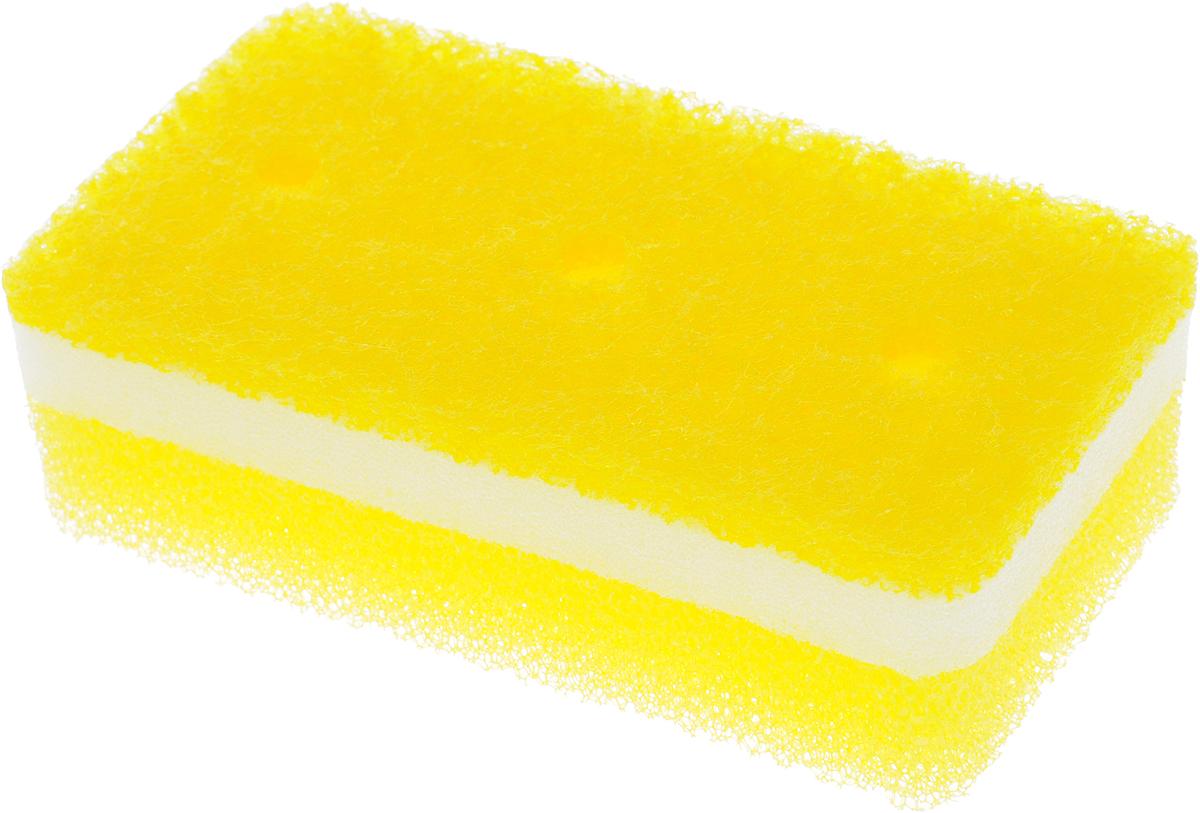 Губка для посуды Ohe Tafupon Soft Sponge, трехслойная, мягкий верхний слой504525Трехслойная губка Ohe Tafupon Soft Sponge предназначена для чистки и мытья изделий из пластика, стекла, эмалированной посуды, керамики, посуды, покрытой пластиком, кухонных приборов из нержавеющей стали. Особенности изделия:- в губке проделаны 3 отверстия, за счет этого легко образуется пена и вода быстро выводится,- нетканый материал на внешней стороне губки прекрасно очищает посуду и не царапает поверхность, - мягкая губка в середине создает мелкую пену,- губка-фильтр на внешней стороне полностью очищает поверхность от грязи и быстро убирает пену,- является безопасным продуктом, поскольку для склеивания не используются растворители и другие опасные вещества.Состав: нетканая поверхность – нейлон , губка – полиуретан.Выдерживает температуру до 90°С.