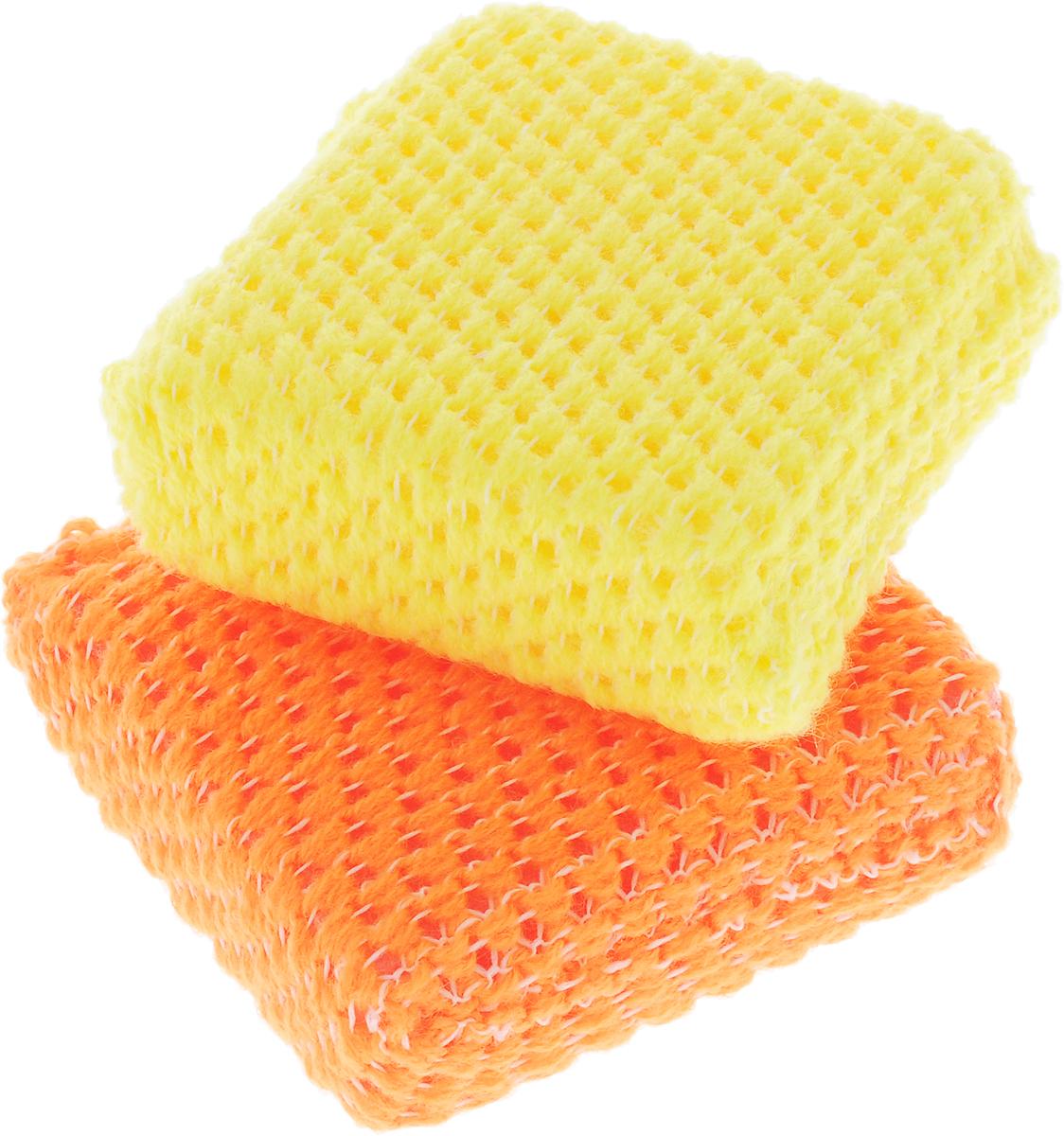 Губка для посуды Ohe Acrylic Sponge, с сеточкой, 8 х 8 х 2,5 см, 2 шт508721Акриловая губка Ohe Acrylic Sponge предназначена для мытья посуды и кухонных приборов. Особенности изделия:- отлично отмывает с посуды жир и налет от чая и кофе даже без использования моющих средств,- имеет компактный размер,- акриловые микроволокна очень качественно удаляют грязь,- используйте губку после того, как резиновой лопаточкой были очищены места, загрязненные маслом или животным жиром.Состав: полиуретан, сетчатый акрил, полиэстер. Выдерживает температуру до 90°С.