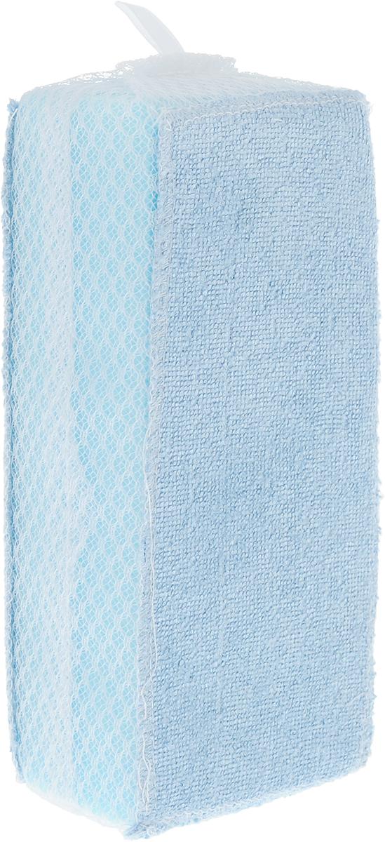 Губка для ванной Ohe Bath Cleaner Sponge, мягкая, с сеточкой, 17,5 х 8 х 5,5 см640407Губка Ohe Bath Cleaner Sponge используется для чистки ванн, раковин, стульчиков, крышек,плитки на стенах и полах в ванной комнате. Губка незаменима при генеральной уборке в ванной. Особенности изделия: - поверхность голубоватого цвета, состоящая из микрофибры, легко удаляет загрязнения иразводы даже без использования моющих средств, - боковая поверхность губки состоит из сетчатого материала с крупными ячейками, за счетчего она хорошо впитывает воду, - губка очень гигиенична, поскольку применялась антибактериальная обработка. Состав: полиуретан, полиэстер.Выдерживает температуру до 90°С.