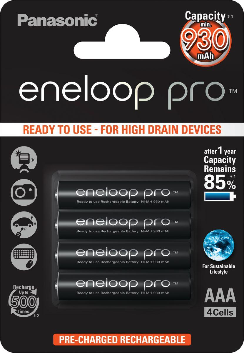 Аккумулятор Panasonic Eneloop Pro, тип AAA, 930 мАч, 4 шт аккумулятор panasonic eneloop тип aaa 750 mah 4 шт