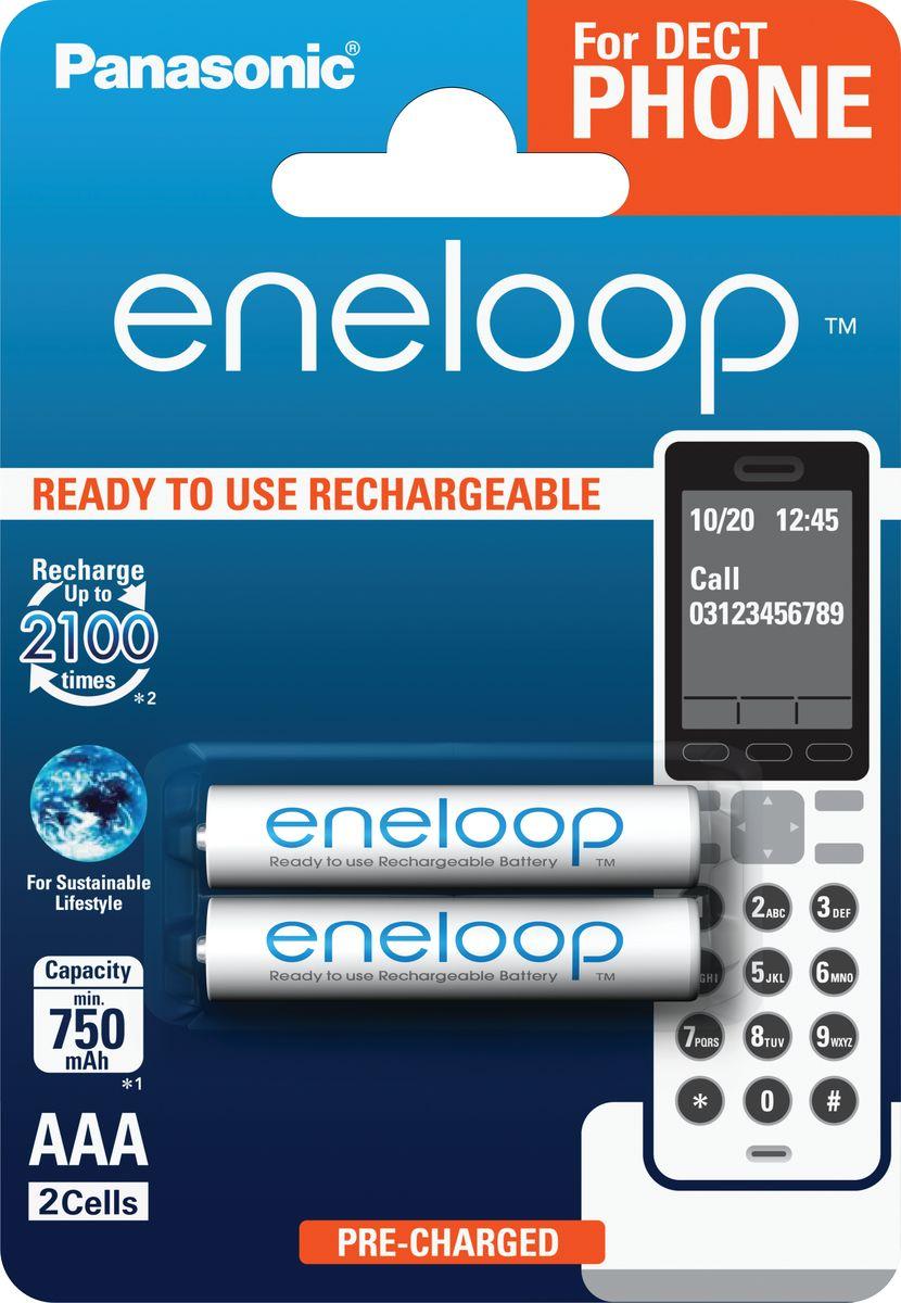Аккумулятор Panasonic Eneloop DECT, тип AAA, 750 мАч, 2 шт5410853058786Стандартная модель демонстрирует низкий саморазряд, большое количество циклов перезаряда и может быть использована в широком диапазоне устройств для обеспечения длительного и надежного электропитания. Оптимальное сочетание высокой емкости и большого количества циклов заряд / разряд –до 2 100 раз. Остаются пригодными к использованию после 10 лет хранения