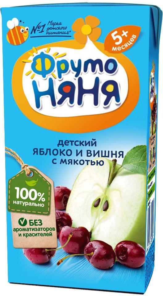 ФрутоНяня нектар из яблок и вишни с мякотью с 5 месяцев, 0,2 л