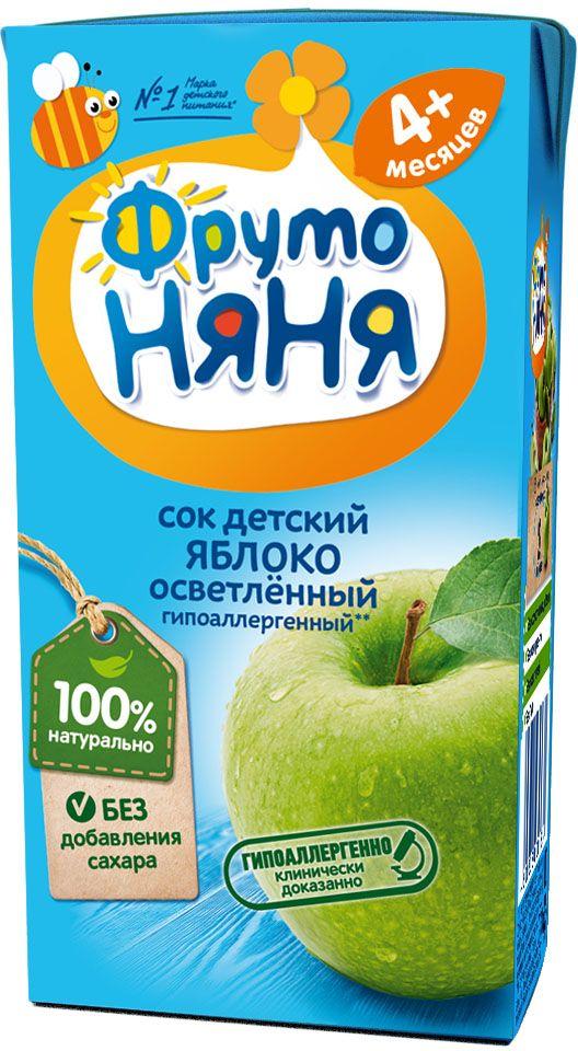 ФрутоНяня сок из яблок с 4 месяцев, 0,2 лP052013Детскими соками и нектарами ФрутоНяня становятся натуральные, отборные фрукты, ягоды и овощи. Они обеспечивают вашего малыша природной пользой и энергией для гармоничного роста и развития. Бережная технология приготовления сохраняет природную пользу фруктов, ягод и овощей. Современное производство соответствует высоким стандартам безопасности и качества.