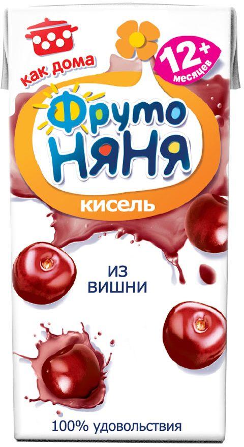 ФрутоНяня кисель из вишни с 12 месяцев, 0,2 л фрутоняня кисель из малины с 12 месяцев 0 2 л