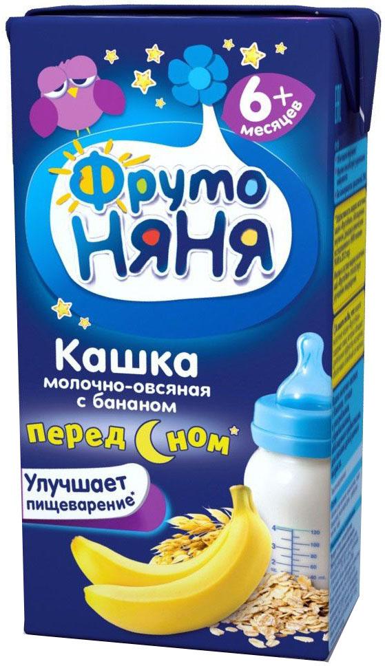 ФрутоНяня каша овсяная с бананом молочная с 6 месяцев, 0,2 л фрутоняня каша пшеничная молочная с 6 месяцев 27 шт по 0 2 л