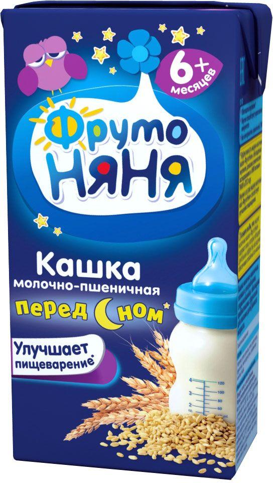 ФрутоНяня каша пшеничная молочная с 6 месяцев, 0,2 л