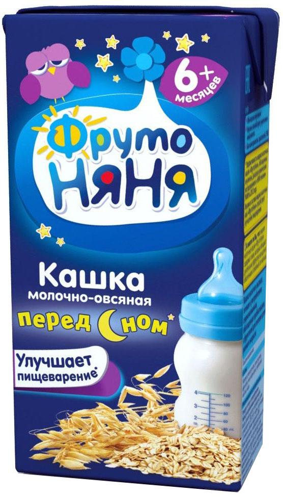 ФрутоНяня каша овсяная молочная с 6 месяцев, 0,2 л фрутоняня коктейль молочный малиновый с 12 месяцев 0 2 л