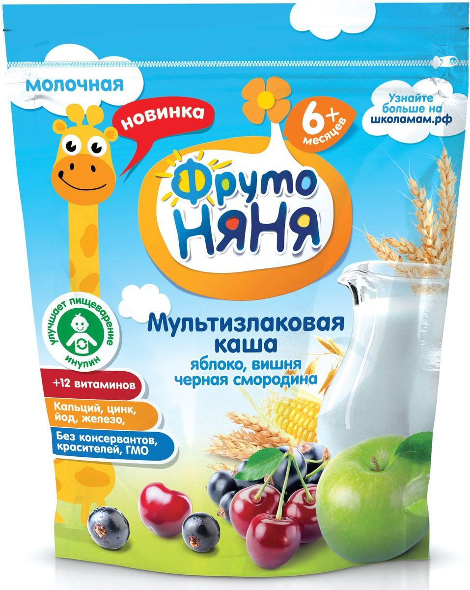 ФрутоНяня каша мультизлак с яблоком, смородиной и вишней молочная с 6 месяцев, 200 гP062092Обогащена 12 витаминами и 3 минераламиизготовлена с использованием натурального фруктового пюребез консервантов, красителей, ГМО