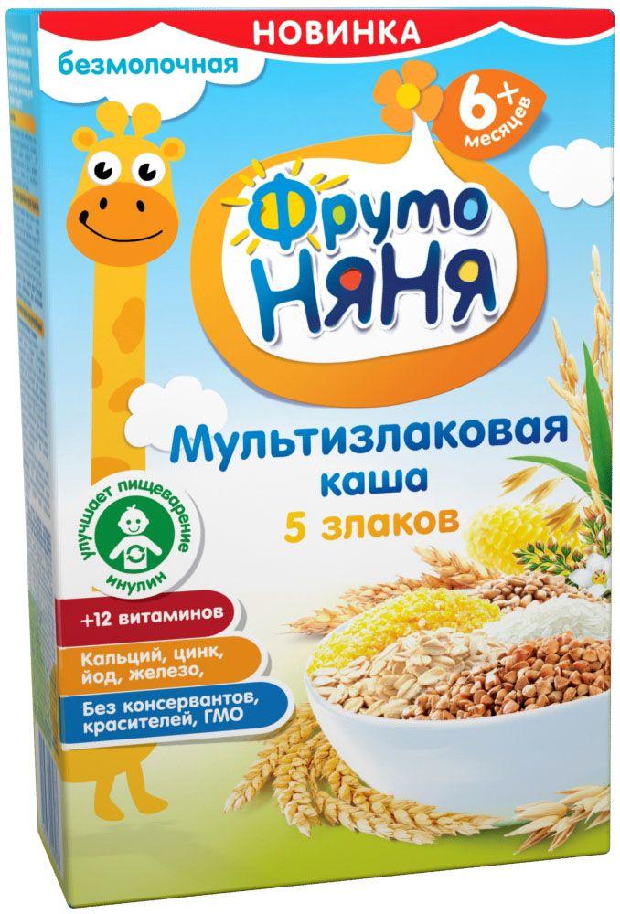 ФрутоНяня каша мультизлаковая безмолочная с 6 месяцев, 200 г каша безмолочная heinz злаки и овощи рисово пшеничная с кабачком с 5 мес 200 г