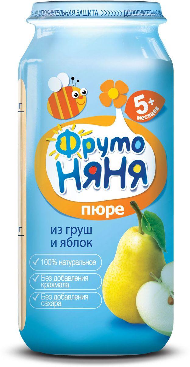 ФрутоНяня пюре из яблок и груш с 5 месяцев, 250 гP072502100% натуральное, без крахмала, без сахара