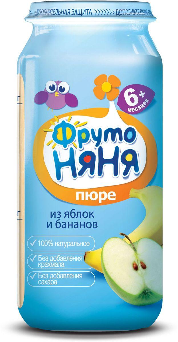 ФрутоНяня пюре из яблок и бананов с 6 месяцев, 250 гP072506100% натуральное, без крахмала, без сахара.