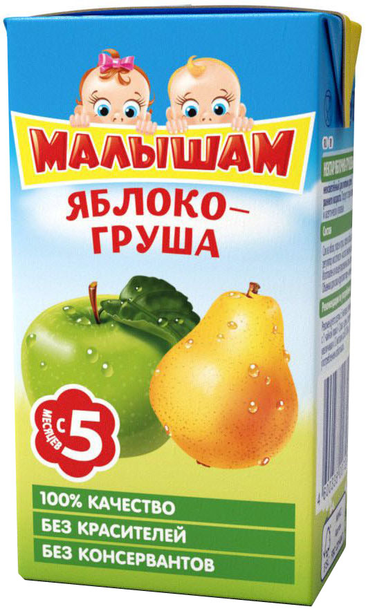 ФрутоНяня Малышам нектар из яблок и груш с 5 месяцев, 0,125 л