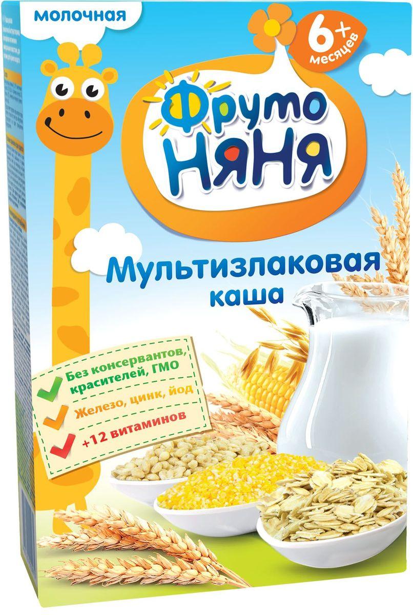 ФрутоНяня каша мультизлаковая молочная с 6 месяцев, 200 г молочная продукция фрутоняня коктейль молочный с малиной 200 мл