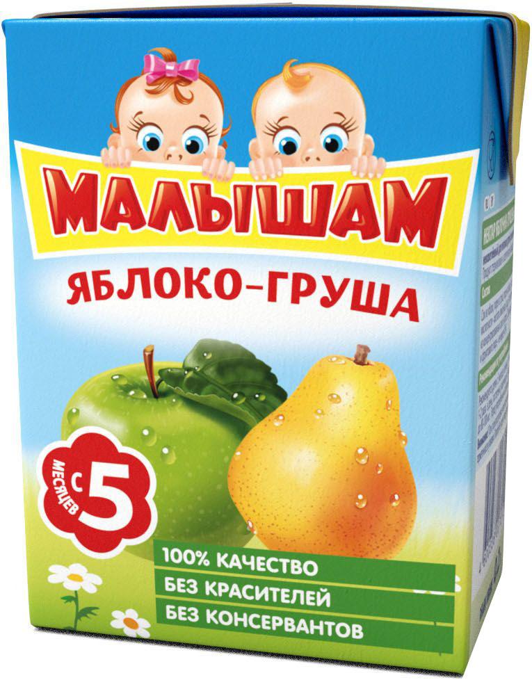ФрутоНяня Малышам нектар из яблока и груш с 5 месяцев, 0,2 л