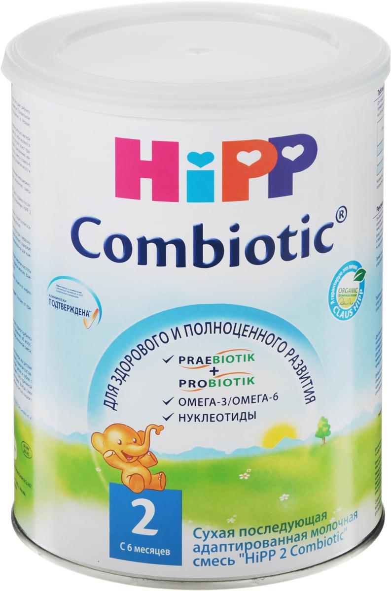 Hipp 2 Сombiotic смесь молочная, с 6 месяцев, 800 г молочная смесь hipp combiotic 2 гипоаллергенная с 6 мес 500 г