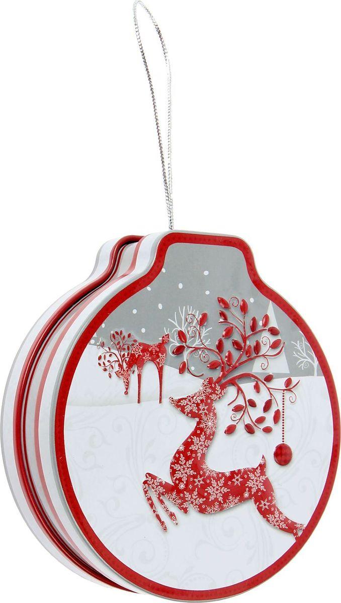Шкатулка Sima-land Олени, цвет: серый, 3,5 х 12 х 11 см1387761Шкатулка — это небольшой сувенир, а также оригинальная упаковка подарка. Она дополнит интерьер спальни, гостиной или прихожей. Изделие предназначено для хранения украшений: колец, браслетов, часов, цепочек, колье, сережек и прочих предметов.