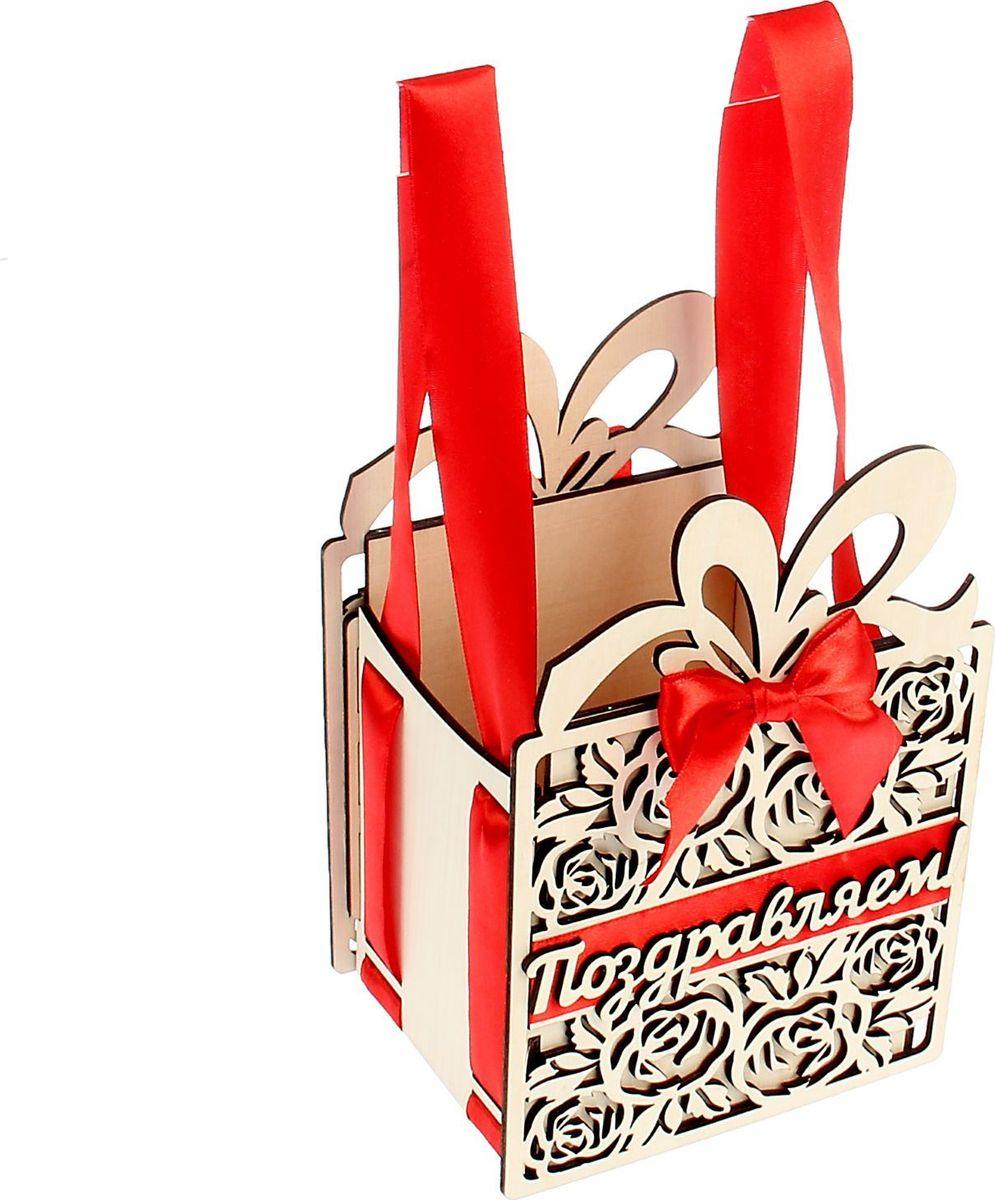 Шкатулка Sima-land Подарок, цвет: белый, 13,5 х 11 х 20 см1530117Шкатулка — это небольшой сувенир, а также оригинальная упаковка подарка. Она дополнит интерьер спальни, гостиной или прихожей. Изделие предназначено для хранения украшений: колец, браслетов, часов, цепочек, колье, сережек и прочих предметов.
