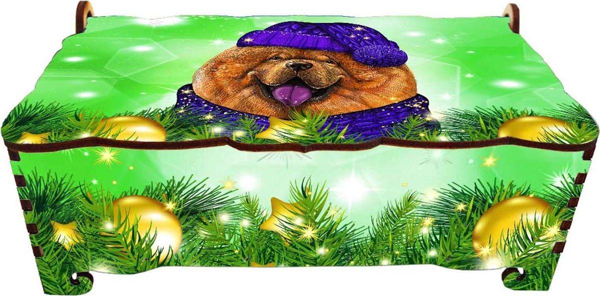 Шкатулка-купюрница Sima-land Чау-чау улыбака , цвет: зеленый, 16,5 см х 9 см х 6 см2246661Шкатулка — это небольшой сувенир, а также оригинальная упаковка подарка. Она дополнит интерьер спальни, гостиной или прихожей. Изделие предназначено для хранения украшений: колец, браслетов, часов, цепочек, колье, сережек и прочих предметов.