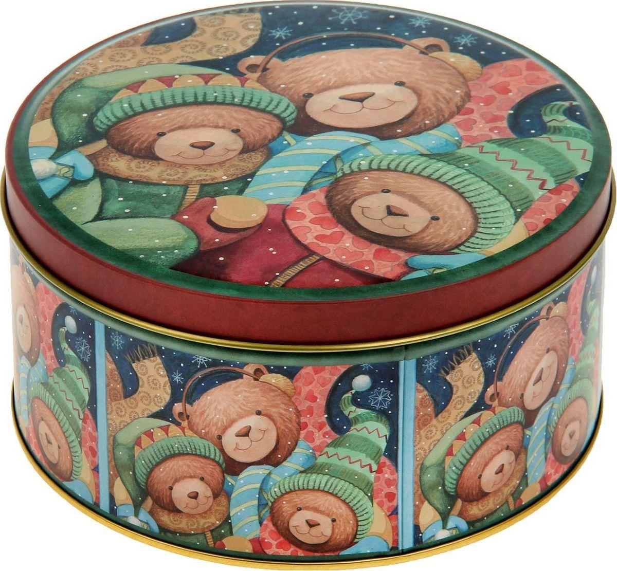 Шкатулка Sima-land Мишки, цвет: светло-коричневый, 7 х 13,5 х 13,5 см2266321Шкатулка — это небольшой сувенир, а также оригинальная упаковка подарка. Она дополнит интерьер спальни, гостиной или прихожей. Изделие предназначено для хранения украшений: колец, браслетов, часов, цепочек, колье, сережек и прочих предметов.