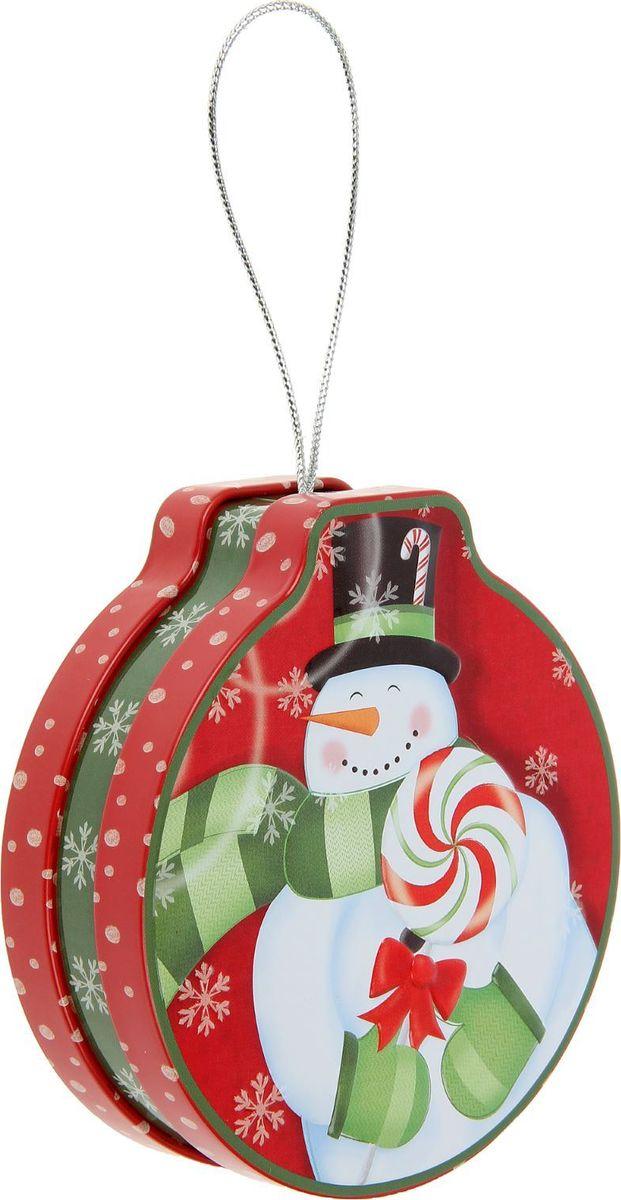 Шкатулка Sima-land Снеговичок с леденцом, цвет: красный, 4 х 12 х 11 см2266330Шкатулка — это небольшой сувенир, а также оригинальная упаковка подарка. Она дополнит интерьер спальни, гостиной или прихожей. Изделие предназначено для хранения украшений: колец, браслетов, часов, цепочек, колье, сережек и прочих предметов.