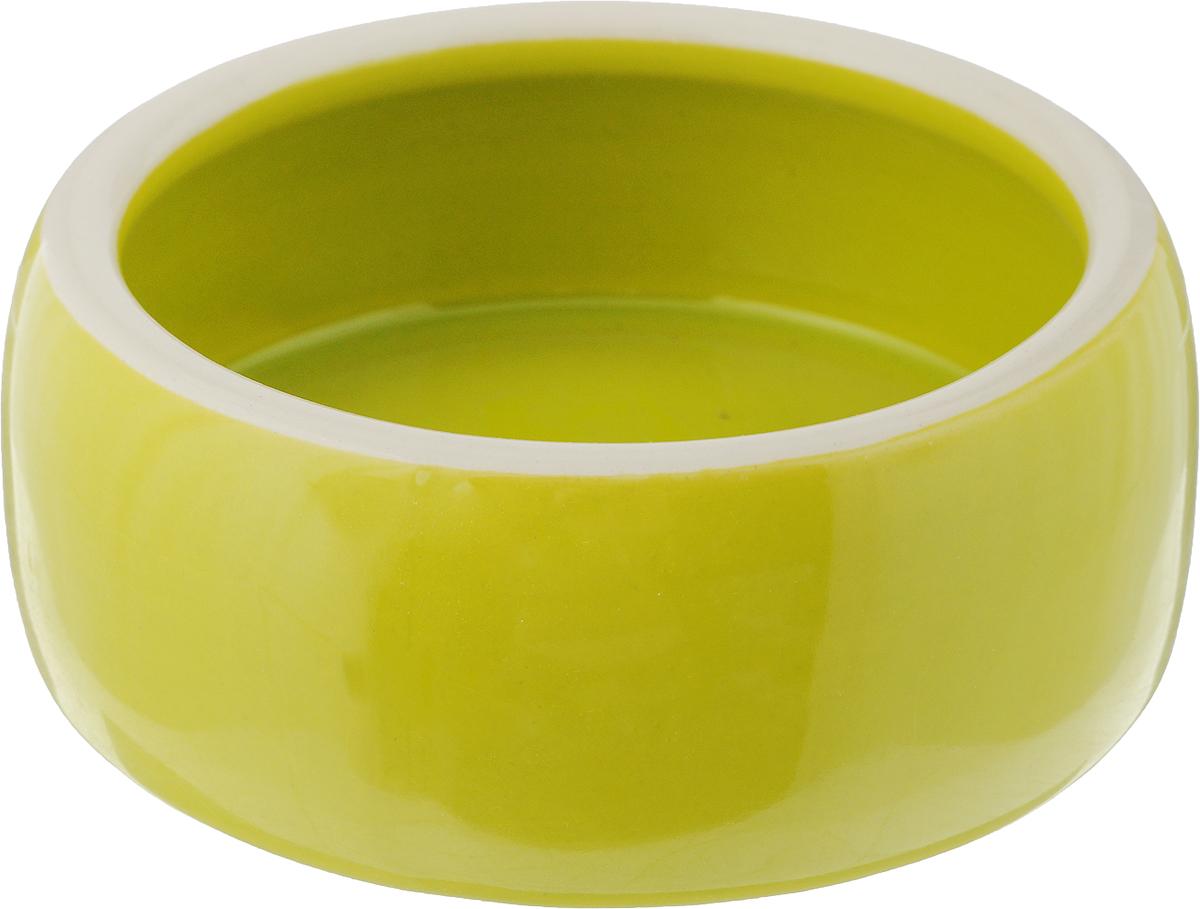 Миска для животных Nobby, цвет: салатовый, 250 мл37314Миска для животных Nobby изготовлена из высококачественного керамики и предназначена для корма и воды. Она порадует удобством использования как самих животных, так и их хозяев. Яркий дизайн и выпуклые стенки придают изделию свою индивидуальность. Миска достаточно тяжелая, поэтому не будет скользить по полу. Диаметр миски по верхнему краю: 10,5 см. Высота миски: 4,5 см. Диаметр основания: 11 см.