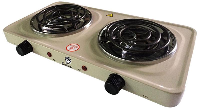 Василиса ПЭ6-2000 плитка электрическая, цвет молочныйПЭ6-2000Надежная, простая в управлении электробытовая настольная плитка Василиса ПЭ6-2000 - находка для дачников, туристов и тех, кто хочет в значительной степени сэкономить пространство на кухне.Представленная модель отличается быстротой нагрева, надежным и прочным корпусом из металла и нагревательными элементами в форме спиралей. Управление осуществляется путем поворота механического переключателя - с его помощью можно выбрать оптимальную температуру или включить/отключить прибор.Данная плитка оснащена небольшим индикатором, указывающим на включенное состояние. Электроплитка не требует много места при хранении и предельно проста в подключении - идеальный вариант для транспортировки и стационарного использования.