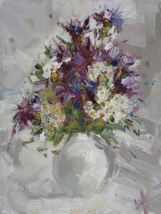 Картина Полевые цветы. Холст, масло. 28x21 см hana svecova listen