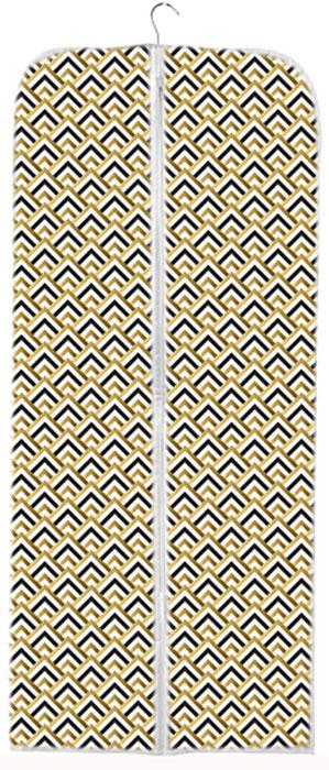 Чехол для хранения одежды Eva Черное золото, 60 x 140 смЯ4313Удобный чехол для одежды на молнии Eva выполнен из прочного дышащего материала - спанбонд. Он обеспечит надежное хранение вашей одежды, защитит от повреждений во время хранения и транспортировки. Идеально подойдет для костюмов, вечерних платьев, пальто, курток, шуб.